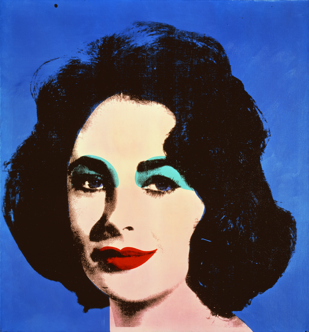 Andy Warhol, Blue Liz, 1962, synthetic polymer and synthetic ink on canvas.  Private Collection.  © The Andy Warhol Foundation for the Visual Arts, Inc / Artists Rights Society (ARS), New York.