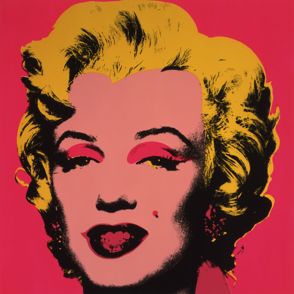 Andy Warhol, Marilyn, 1967, screen print on paper. The Andy Warhol Museum, Pittsburgh; Founding Collection, Contribution The Andy Warhol Foundation for the Visual Arts, Inc. L1998.1.10.  © The Andy Warhol Foundation for the Visual Arts, Inc / Artists Rights Society (ARS), New York.