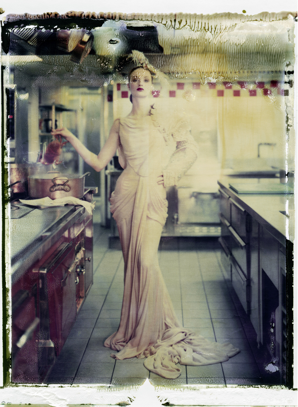 MY LITTLE DARLING, DIOR – HAUTE COUTURE WINTER 2006 – N°30, 2009.   Chromogenic print from original polaroid, 43 x 32 inches (110 x 80 cm).   ©  Cathleen Naundorf / Courtesy Edwynn Houk Gallery, New York & Zürich