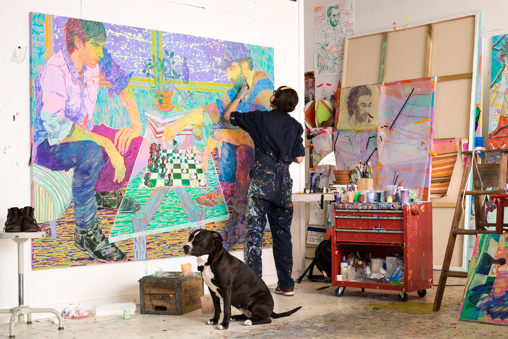 Hope Gangloff in the studio. Photo by Donald Stahl.