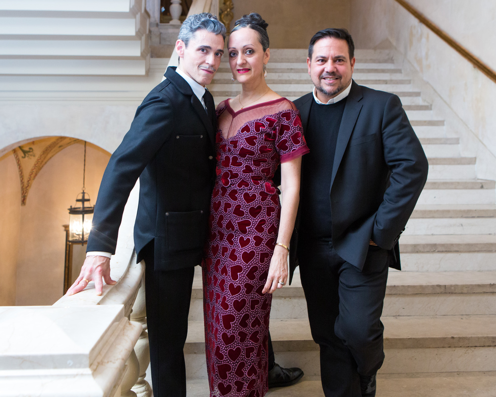 El Museo del Barrio's Gala honoring Ruben & Isabel Toledo and MAC Cosmetics, celebrating Antonio Lopez.  Ruben Toledo, Isabel Toledo, Narciso Rodriguez. Photo by BFA/Carl Timpone.