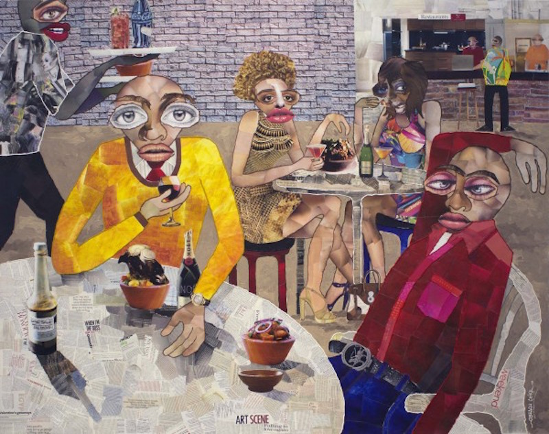 Chike Obeagu from the group show 'Guess Who's Coming to Dinner', 2015. Courtesy of the Richard Taittinger Gallery.