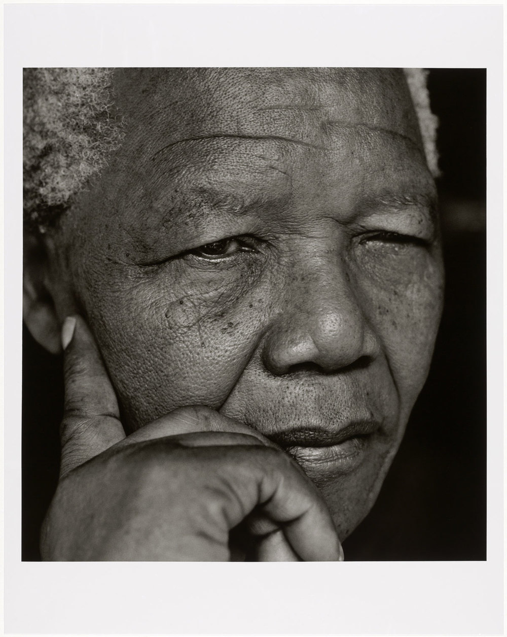 Herb Ritts (American, 1952-2002) Nelson Mandela, Johannesburg 1994 Gelatin silver print Museum of Fine Arts, Boston Gift of Herb Ritts Foundation © Herb Ritts Foundation Photograph © Museum of Fine Arts, Boston