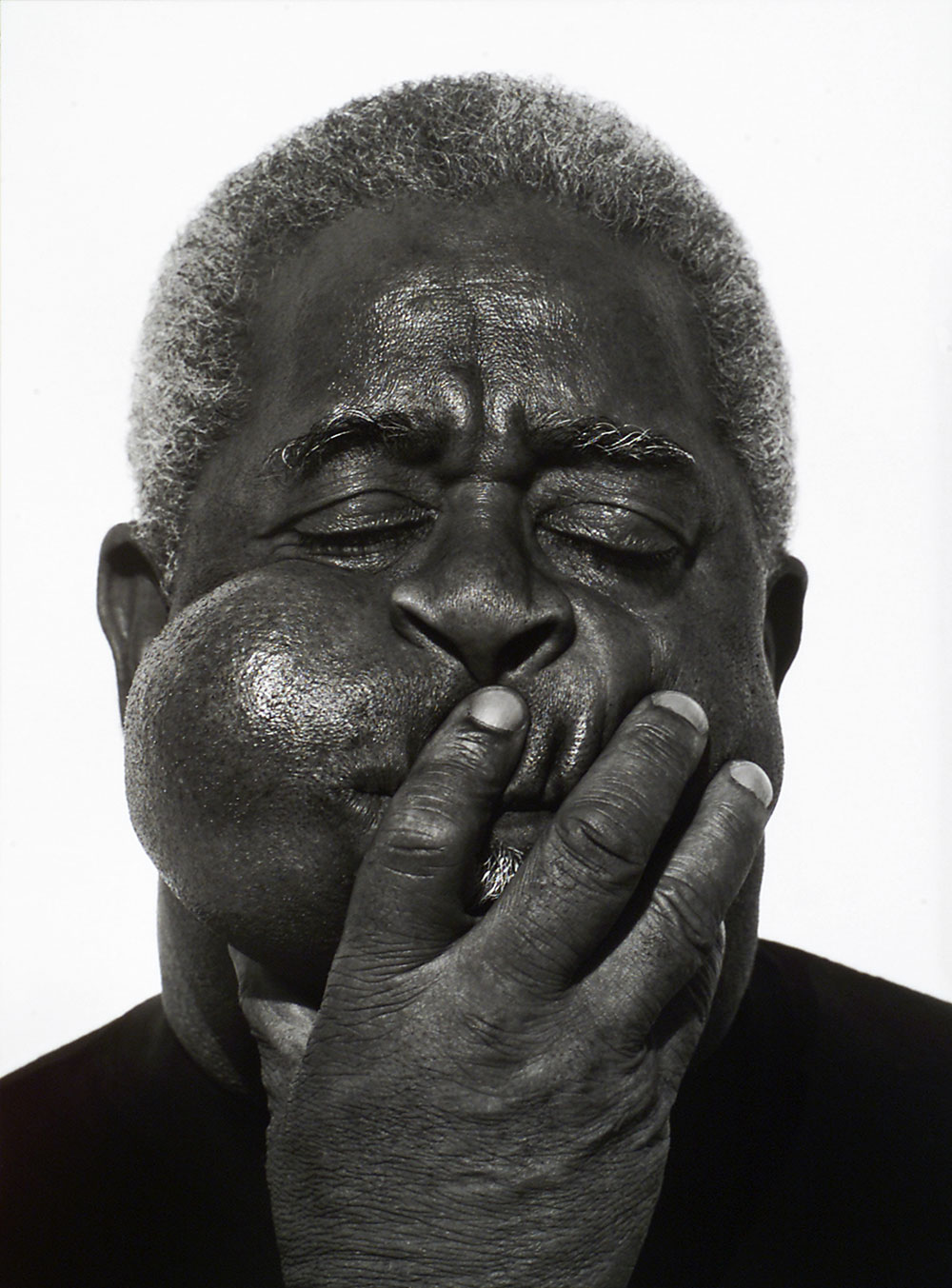 Herb Ritts  (American, 1952-2002)  Dizzy Gillespie, Paris   1989 Gelatin silver print Museum of Fine Arts, Boston Gift of Herb Ritts © Herb Ritts Foundation Photograph © Museum of Fine Arts, Boston
