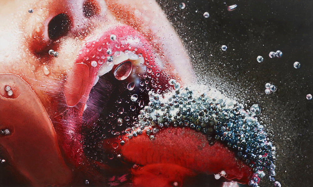 Marilyn Minter (American, b. 1948). Pop Rocks, 2009. Enamel on metal, 108 x 180 in. (274.3 x 457.2 cm). Collection of Danielle and David Ganek