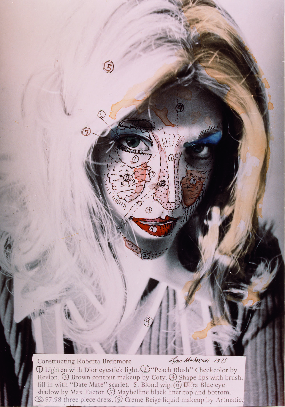 Lynn Hershman Leeson, Roberta Construction Chart #1, 1975, © Lynn Hershman Leeson / The SAMMLUNG VERBUND Collection, Vienna