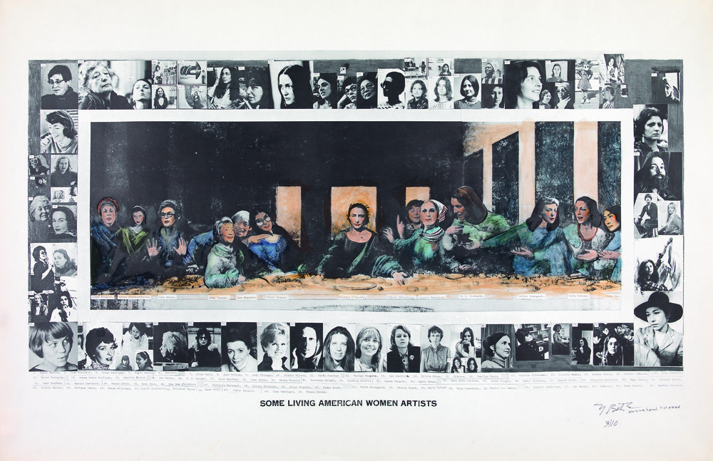 Mary Beth Edelson, Some Living American Women Artists / Last Supper, 1972, © Mary Beth Edelson Courtesy of Balice Hertling, LLC, New York / , The SAMMLUNG VERBUND Collection, Vienna