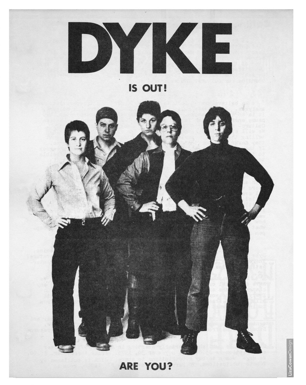 DYKE, A Quarterlyflyer, design by Liza Cowanc. 1974Courtesy Liza Cowan and Penny House