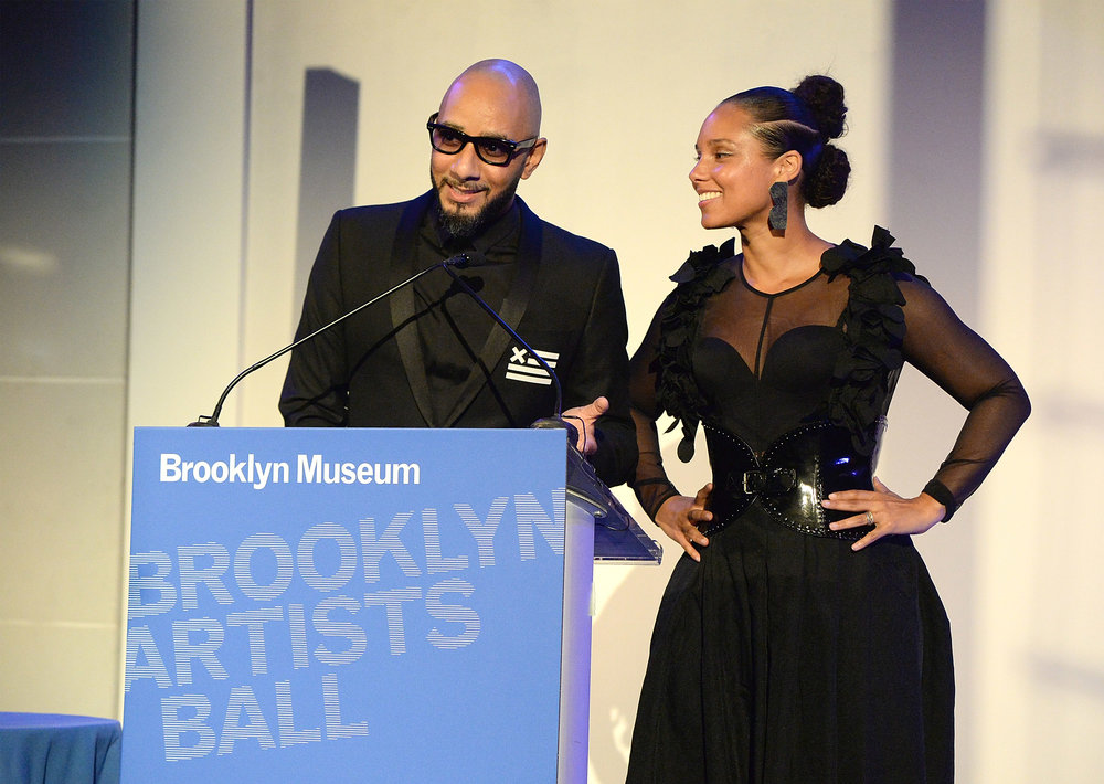 Swizz Beatz and Alicia Keys (Photo by Kevin Mazur/Getty Images for the Brooklyn Museum)