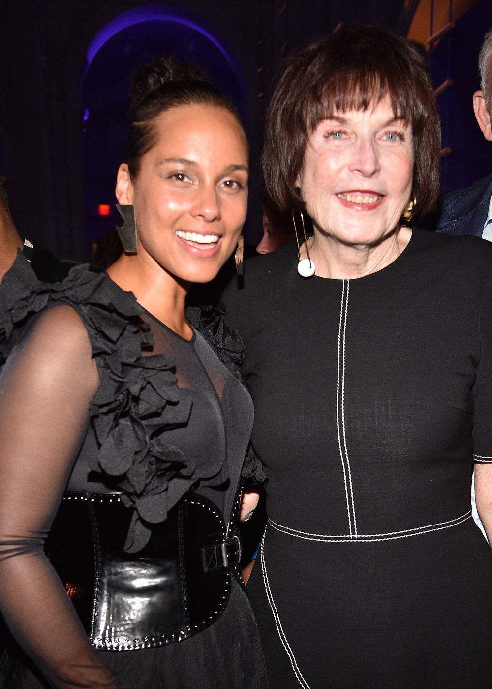 Alicia Keys and Marilyn Minter (Photo by Kevin Mazur/Getty Images for the Brooklyn Museum)