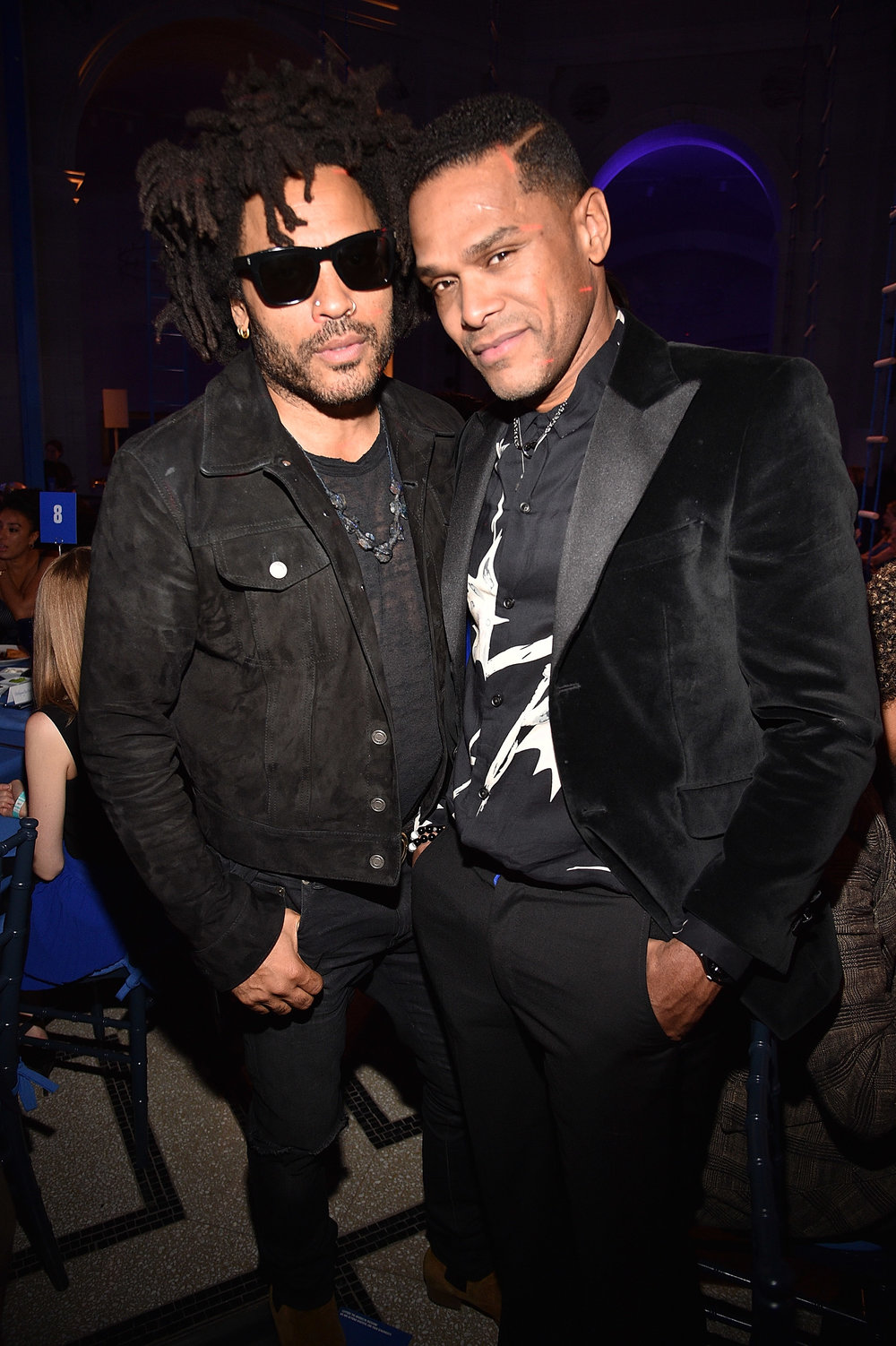 Lenny Kravitz and Maxwell (Photo by Kevin Mazur/Getty Images for the Brooklyn Museum)