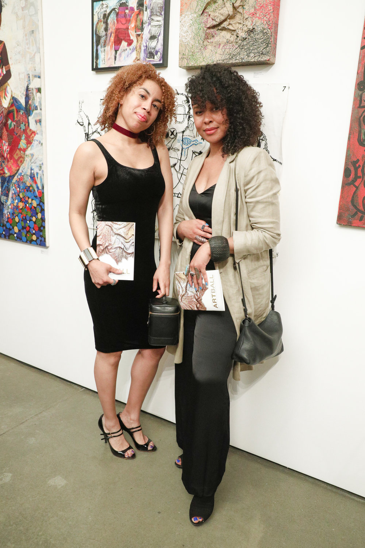 Gallery Gurls EIC Jasmin Hernandez and writer Marquita Harris.Photo by Matteo Prandoni/BFA.
