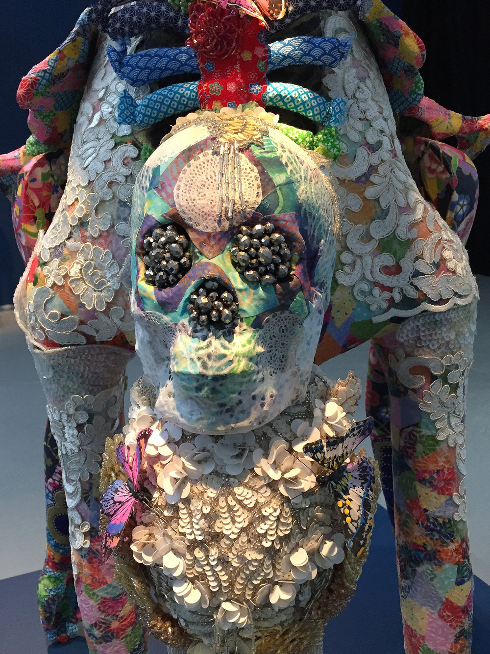 Saya Woolfalk, ChimaCloud Crystal Body B, 2017 (Detail View), Mixed Media 56 x 18 x 43 inches. Copyright Saya Woolfalk, courtesy Leslie Tonkonow Artworks + Projects, New York