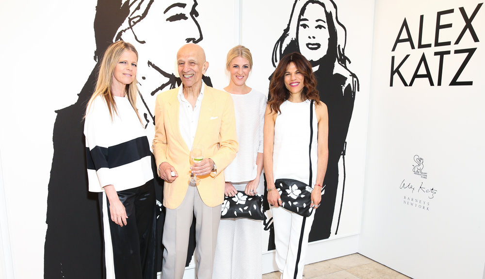 Yvonne Force-Villareal, Alex Katz,, Casey Fremont, and Doreen Remen. Credit: BFA