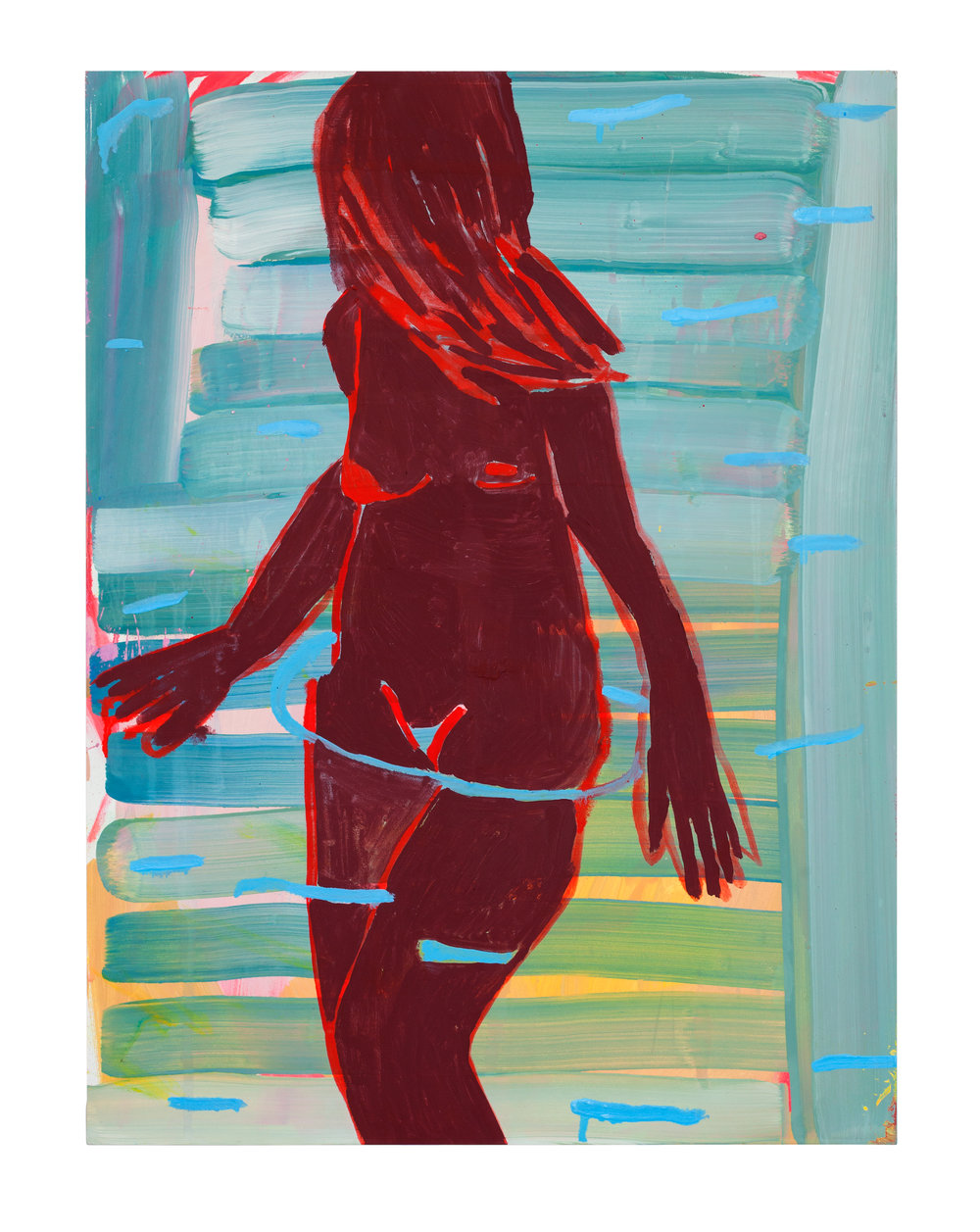 'Fire Bath', Kimia Ferdowski Kline, from the exhibit 'Breathing on Land'. Courtesy of TURN Gallery..