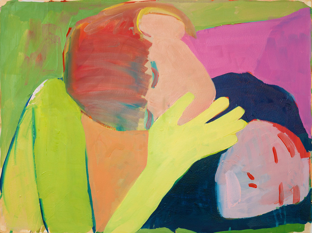 'Two Heads', Kimia Ferdowski Kline, from the exhibit 'Breathing on Land'. Courtesy of TURN Gallery.