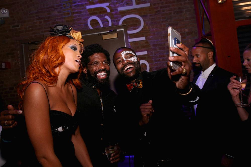JillianHervey of Lionbabe,Andre Singleton,Abiola Oke.Photo by Getty Images.