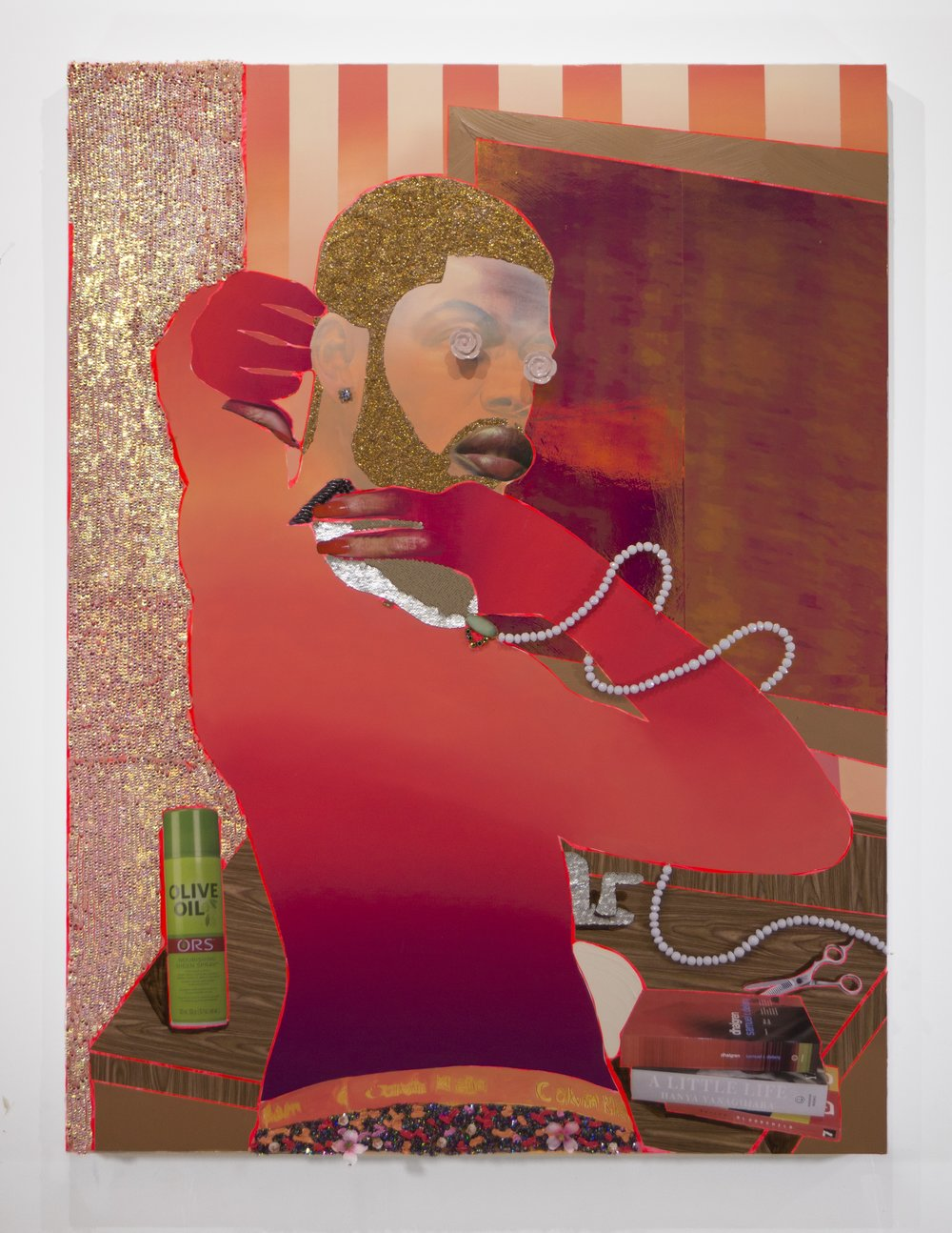 CTRL, 2017, Devan Shimoyama. Courtesy of De Buck Gallery.