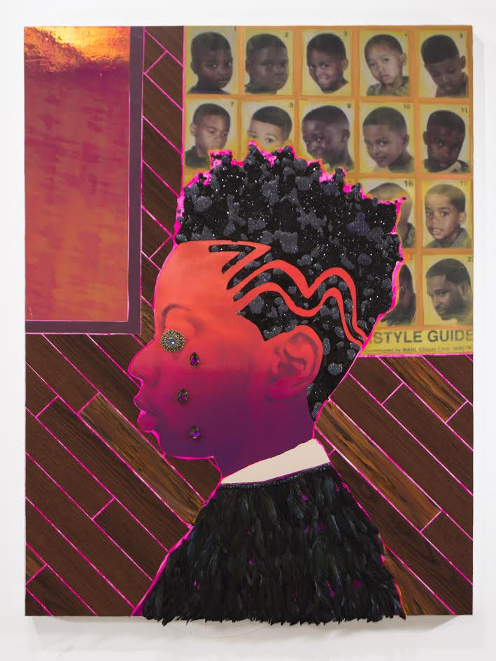 Off the Charts, 2017, Devan Shimoyama. Courtesy of De Buck Gallery.