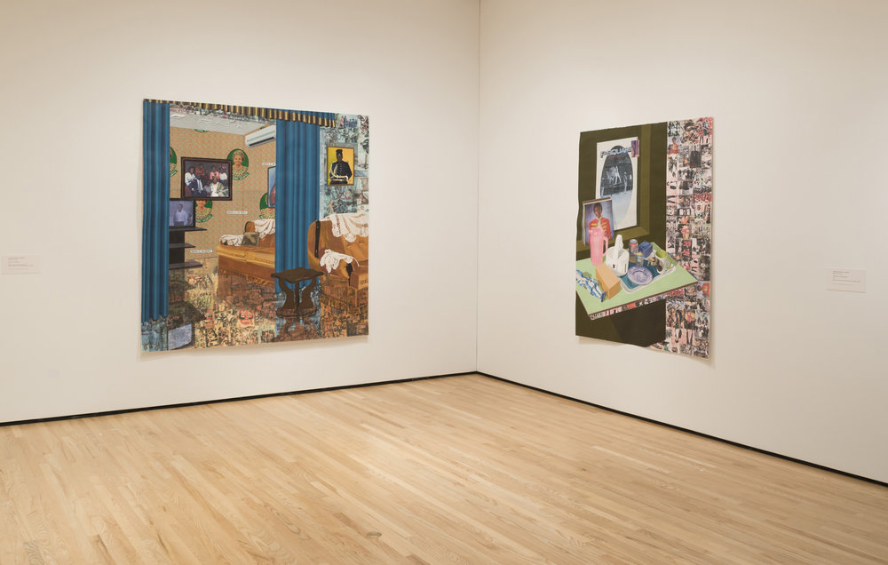 Installation view 2, Front Room: Njideka Akunyili Crosby | Counterparts. Photo by Mitro Hood.