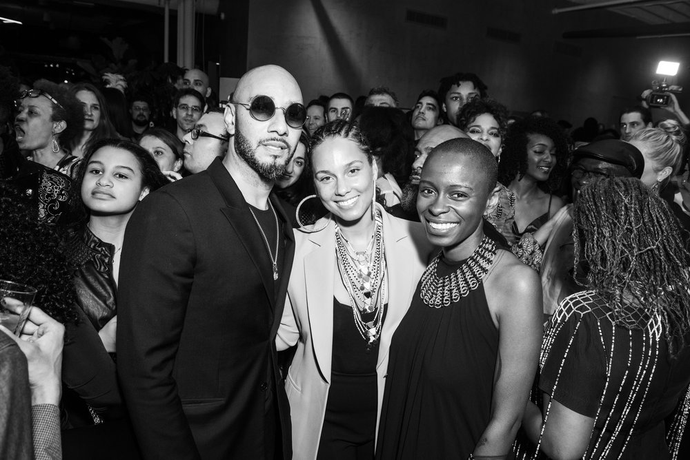 Swizz Beatz, Alicia Keys, Toyin Ojih Odutola. Photo by BFA.