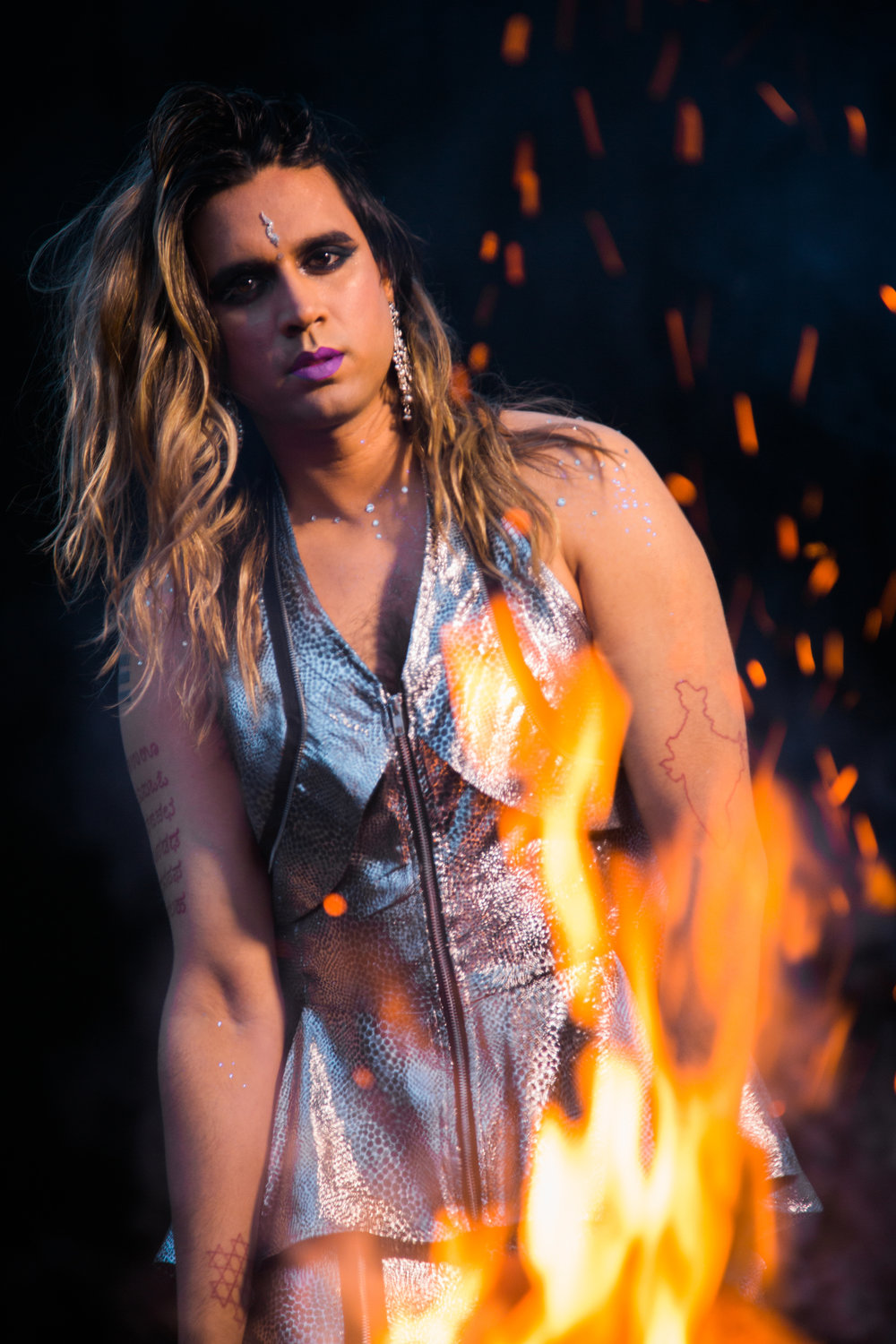 Portraits of Vivek Shraya by Zachary Ayotte (2)