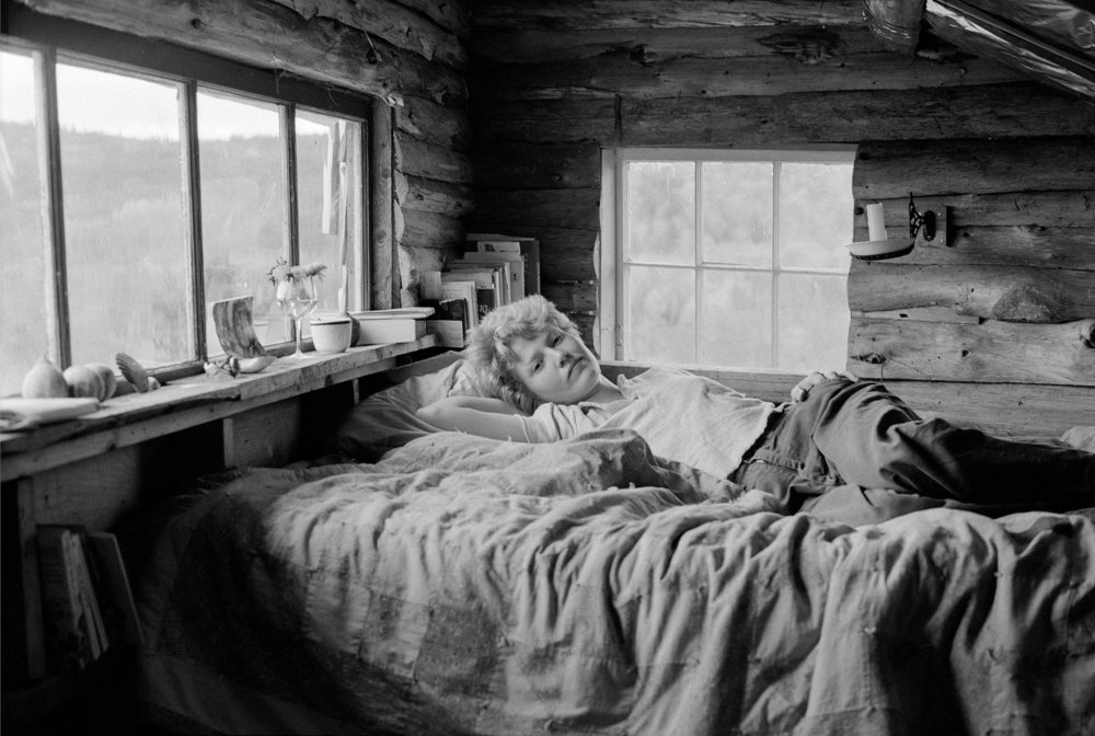 Donna Gottschalk, Self-portrait in Maine, 1976, silver gelatin print/ 2018, 14 x 11 in. Collection of the Leslie-Lohman Museum.