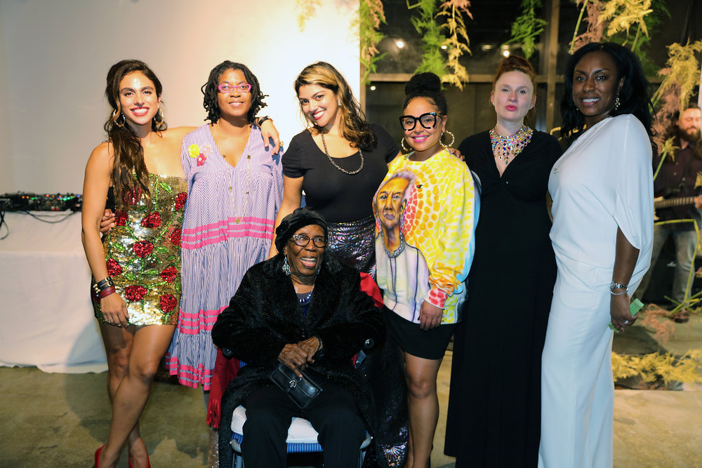 Shari Loeffler, Kemi Ilesanmi, Gladys Barker Grauer, Jasmine Wahi, Joeonna Bellorado-Samuels, Rebecca Jampol, Tiana Webb Evans. Photo by Anthony Alvarez.