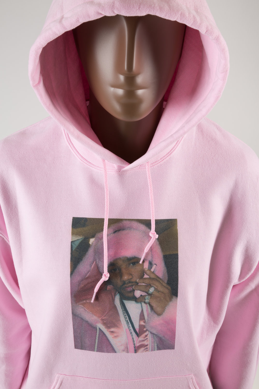 Sweatshirt, featuring photo of Cam'ron wearing pink fur, circa 2003, anonymous donor. All photographs © The Museum at FIT