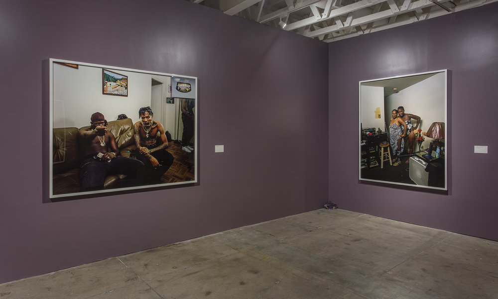 Installation view,  Deana Lawson: Planes  at The Underground Museum. Courtesy of The Underground Museum. Photo by Brian Forrest.