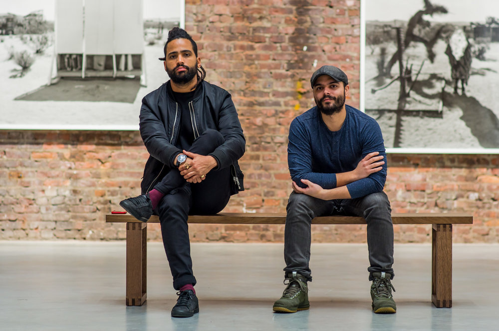 Báez and MECA co-founder Tony Rodríguez at Gavin Brown's Enterprise, Harlem, 2018. Portrait by Magdiel Báez.