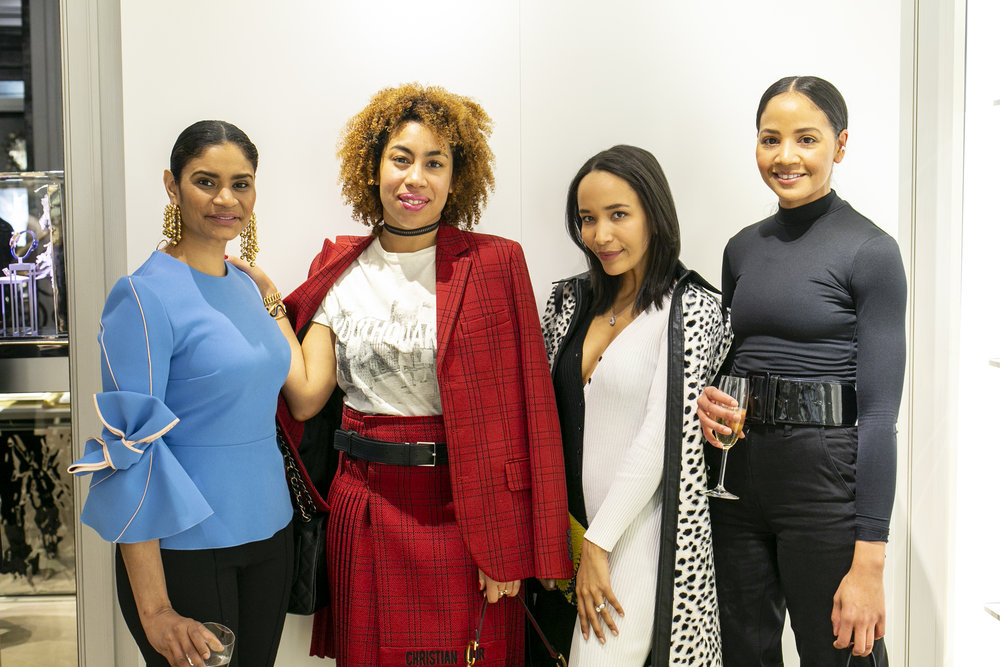 Artist Kamiesha Garbadawala, Gallery Gurls' EIC Jasmin Hernandez, Art Advisor/Curator Natasha Roberts, Stylish Flaneuse Founder Priscilla Torres. Photo by Richard Jopson.
