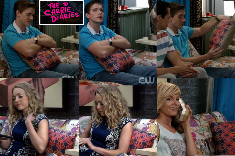 Chez pillow as seen on the set of The Carrie Diaries