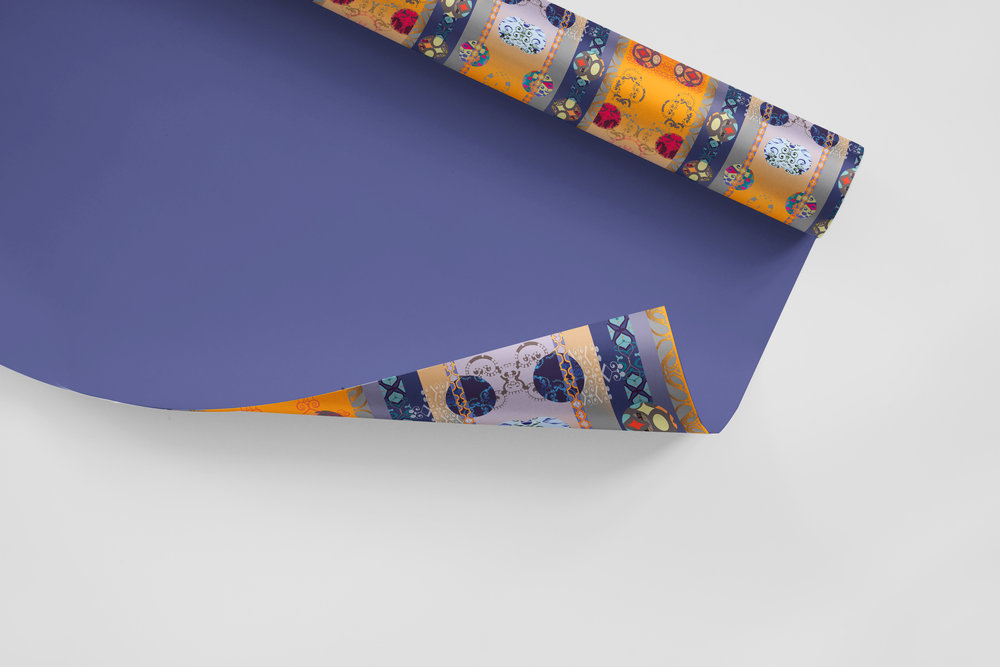 PomPoms3b Gift Wrapping Paper MockUp.jpg