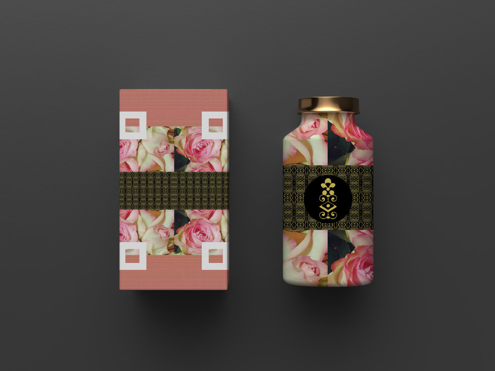 Cosmetic box and bottle