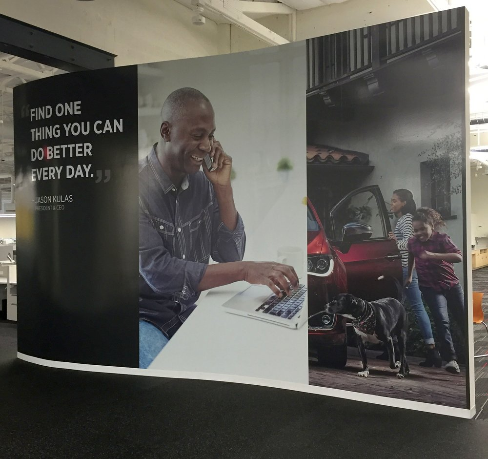 Digital wall wrap