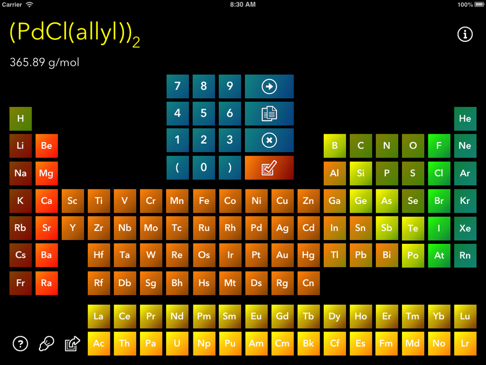 Beautiful, full-sized periodic table.