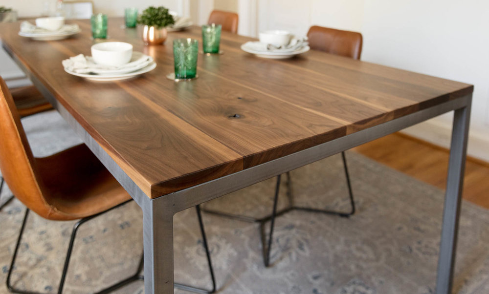 Artisan woodworker custom kitchen table