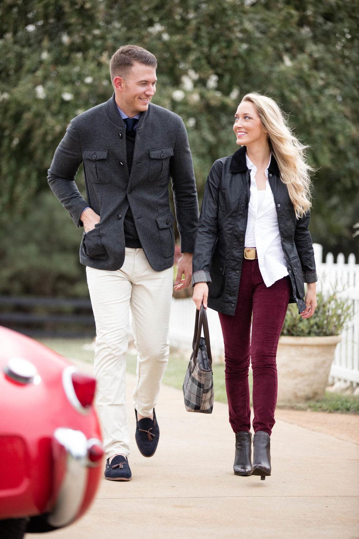 Well dressed couple on weekend getaway