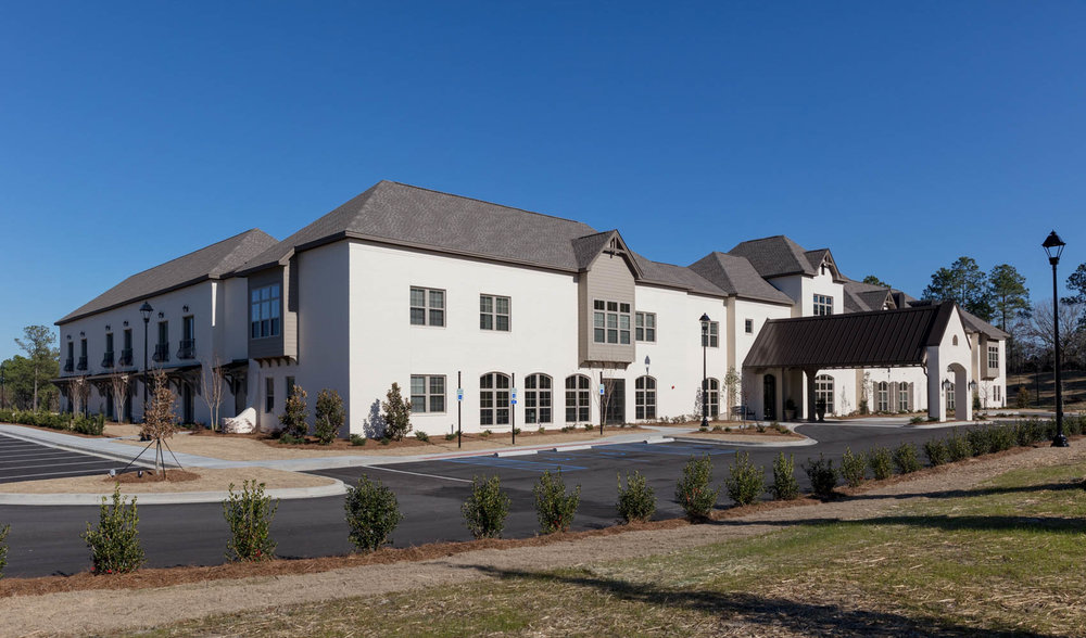 Senior living building exterior