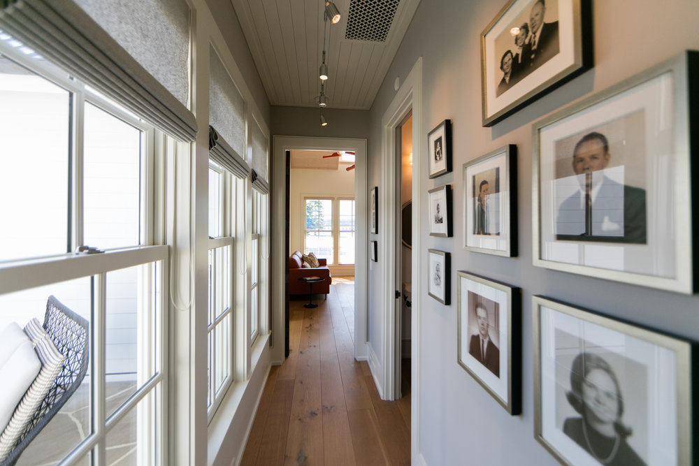 Farmhouse gallery wall in hallway