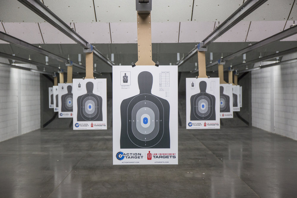 Shooting range indoor targets