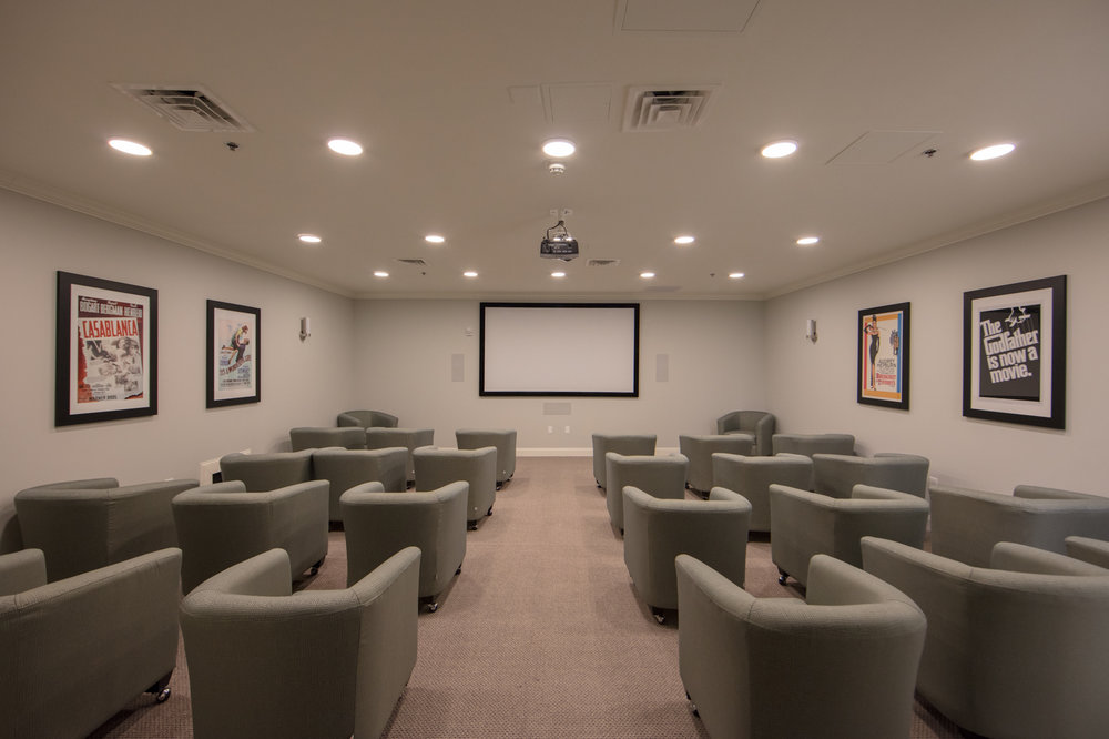 Movie theater in senior living facility