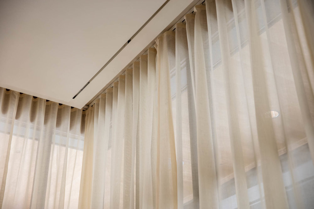 Mid century modern cream curtains