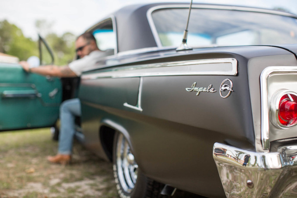 Vintage impala with well dressed male