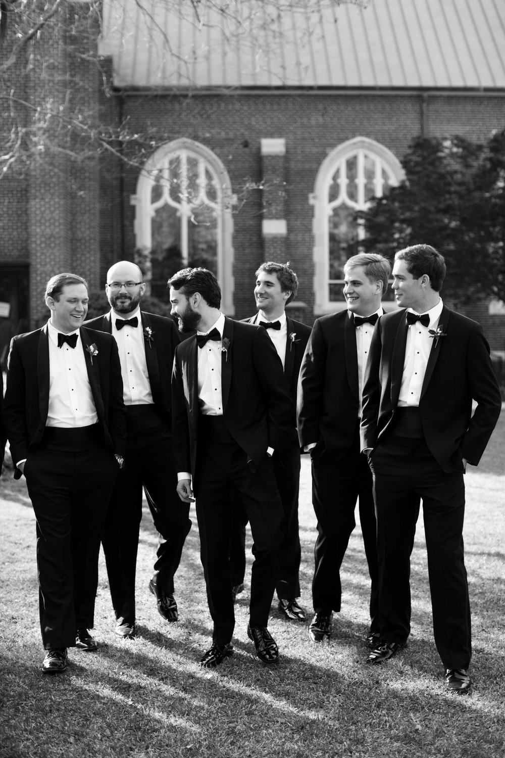 Wedding photography southern groomsmen black tie