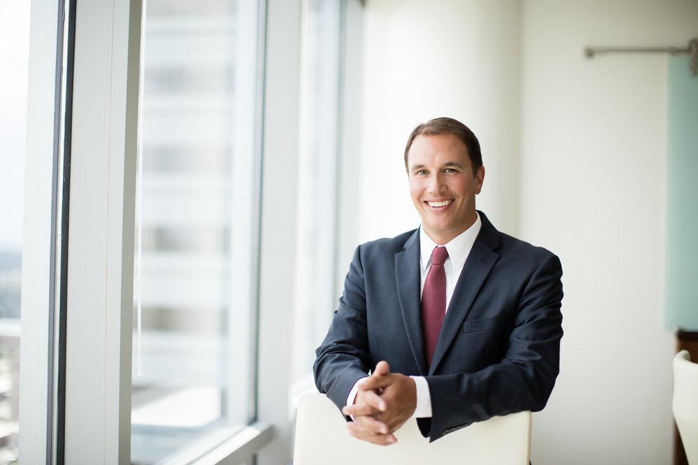 Male lawyer in suit portrait