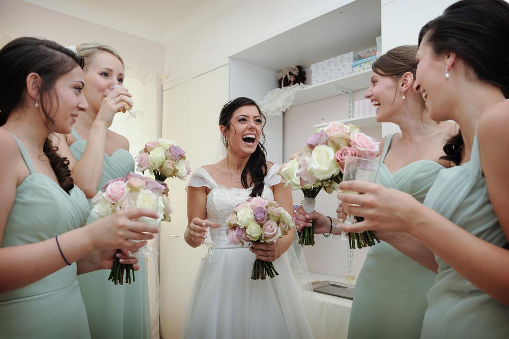 Bridesmaids and Bride Reading Salisbury