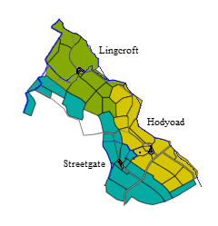 Streetgate in relation to Henry Bowman's two properties, Lingcroft and Hodyoad.