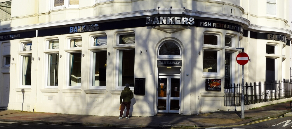 Once a branch of Lloyds Bank.  A very successful restaurant and take-away, revamped last year.